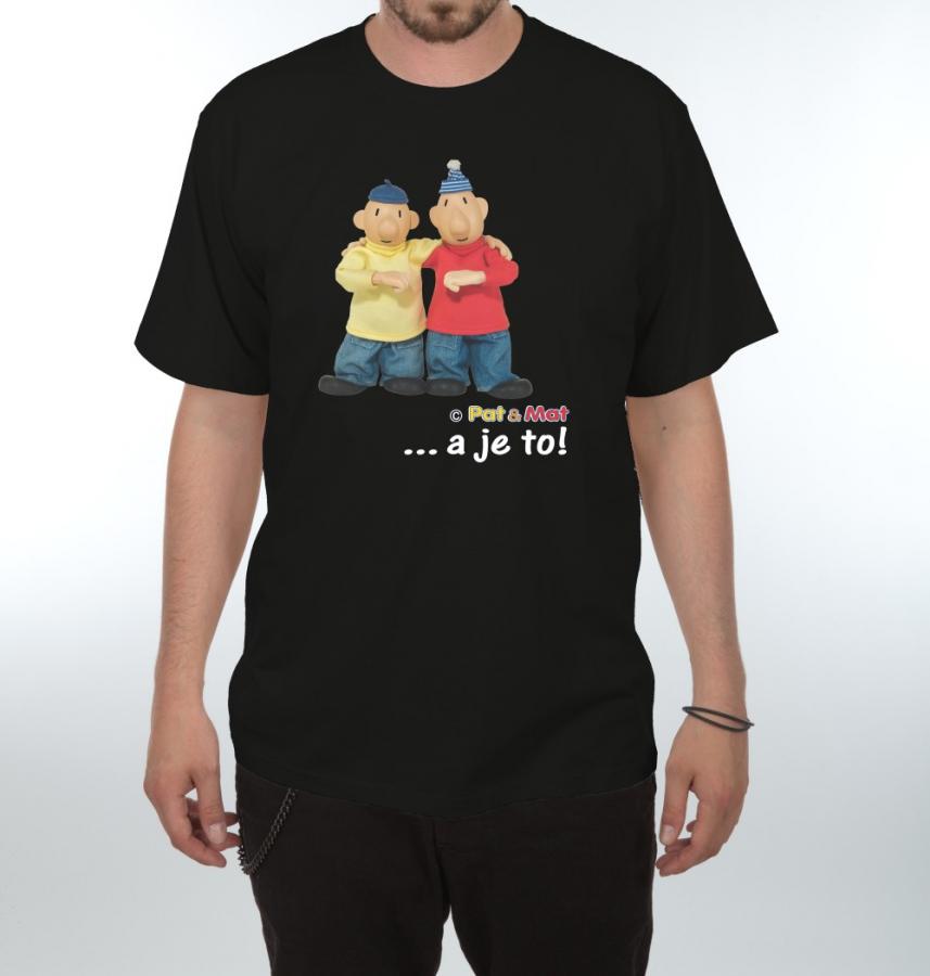 90f9d10f86f0 Tričko s potiskem Pat a Mat - Gesto - černá