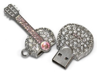 USB flash disk diamantová kytara 8GB