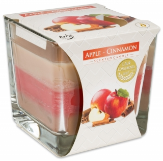 Bispol svíčka Coloured Apple Cinnamon 170g